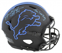 """Barry Sanders Signed Lions Full-Size Authentic On-Field Eclipse Alternate Speed Helmet Inscribed """"HOF 04"""" & """"The Lion King"""" (Beckett COA) at PristineAuction.com"""