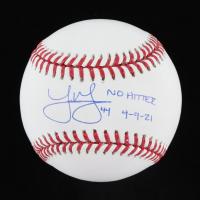 "Joe Musgrove Signed OML Baseball Inscribed ""No Hitter 4-9-21"" (USA SM COA) at PristineAuction.com"