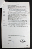 """Bob Dylan Signed 1972 """"Writings and Drawings"""" Publishing Contract (Beckett LOA) at PristineAuction.com"""