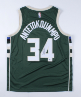 Giannis Antetokounmpo Signed Authentic Nike Bucks Jersey (Beckett COA) at PristineAuction.com