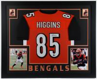 Tee Higgins Signed 35x43 Custom Framed Jersey Display (Beckett Hologram) at PristineAuction.com