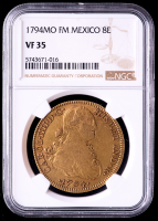 1794-Mo FM Mexico 8 Escudos Gold Coin (NGC VF35) at PristineAuction.com