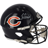 Justin Fields Signed Bears Full-Size Speed Helmet (Fanatics Hologram) at PristineAuction.com