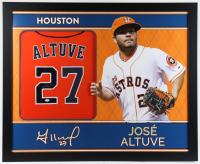 Jose Altuve Signed 35x43 Custom Framed Jersey (JSA Hologram) at PristineAuction.com