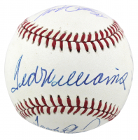OAL Baseball Signed by (4) with Ted Williams, Carl Yastrzemski, Frank Robinson & Miguel Cabrera (Beckett LOA) at PristineAuction.com
