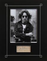 John Lennon Signed 14x18 Matted Cut Display (Beckett LOA) at PristineAuction.com
