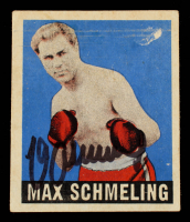 Max Schmeling Signed 1948 Leaf #32 (Beckett COA) at PristineAuction.com