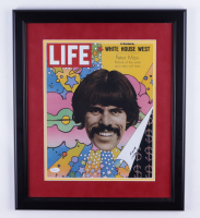 Peter Max Signed 17.5x20.5 Custom Framed Photo Display (PSA COA) at PristineAuction.com