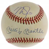 Mickey Mantle & Mike Trout Signed OAL Baseball (MLB Hologram & UDA Hologram) at PristineAuction.com