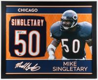 Mike Singletary Signed 35x43 Custom Framed Jersey (Beckett COA) at PristineAuction.com
