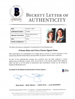 Princess Diana & Prince Charles Signed 7.25x10 Photo (Beckett LOA) at PristineAuction.com