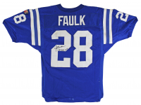 """Marshall Faulk Signed Colts Game-Worn Jersey Inscribed """"95 Game Worn"""" (Beckett LOA) at PristineAuction.com"""