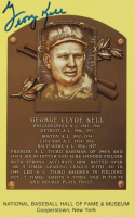 George Kell Signed Gold Hall of Fame Plaque Postcard (Beckett COA) at PristineAuction.com
