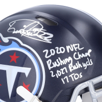 Derrick Henry Signed Titans Full-Size Authentic On-Field Speed Helmet with Multiple Inscriptions (Fanatics Hologram) at PristineAuction.com