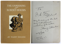 """Harry Houdini Signed """"The Unmasking of Robert-Houdin"""" Hardcover Book with Extensive Inscription (Beckett LOA) at PristineAuction.com"""