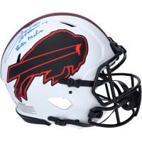 "Josh Allen Signed Bills Full-Size Authentic On-Field Lunar Eclipse Alternate SpeedFlex Helmet Inscribed ""Bills Mafia"" (Fanatics Hologram) at PristineAuction.com"