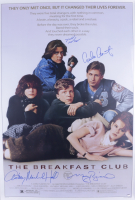 """""""The Breakfast Club"""" 27x40 Movie Poster Cast-Signed by (4) With Emilio Estevez, Molly Ringwald, Judd Nelson, Anthony Michael Hall (Schwartz COA) at PristineAuction.com"""