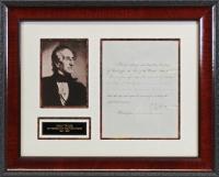 John Tyler Signed 17x20.25 Custom Framed Letter Display (Beckett LOA) at PristineAuction.com