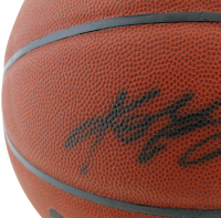 "Magic Johnson & Kobe Bryant Signed Spalding NBA Basketball Inscribed ""2 Legends 10 Rings"" (PSA COA & Beckett COA) at PristineAuction.com"