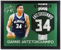 Giannis Antetokounmpo Signed 35x43 Custom Framed Jersey (JSA COA) (See Description) at PristineAuction.com