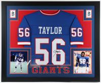 Lawrence Taylor Signed 35x43 Custom Framed Jersey Display (JSA Hologram) at PristineAuction.com