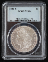 1881-S Morgan Silver Dollar (PCGS MS64) at PristineAuction.com