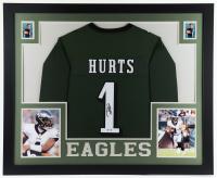 Jalen Hurts Signed 35x43 Custom Framed Jersey Display (PSA Hologram) at PristineAuction.com