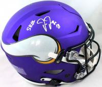 "Justin Jefferson Signed Vikings Full-Size Authentic On-Field SpeedFlex Helmet Inscribed ""SKOL"" (Beckett Hologram) at PristineAuction.com"