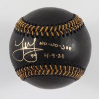 """Joe Musgrove Signed OML Black Leather Baseball Inscribed """"No-No-Joe 4-9-21"""" (USA SM COA) at PristineAuction.com"""