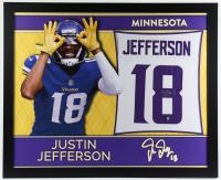 Justin Jefferson Signed 35x43 Custom Framed Jersey (Beckett COA) at PristineAuction.com