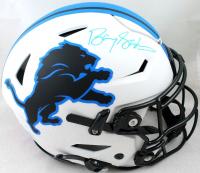Barry Sanders Signed Lions Authentic On-Field Lunar Eclipse Alternate SpeedFlex Helmet (Beckett Hologram & Schwartz Sports Hologram) at PristineAuction.com