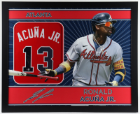 Ronald Acuna Jr. Signed 35x43 Custom Framed Jersey (Beckett COA) at PristineAuction.com