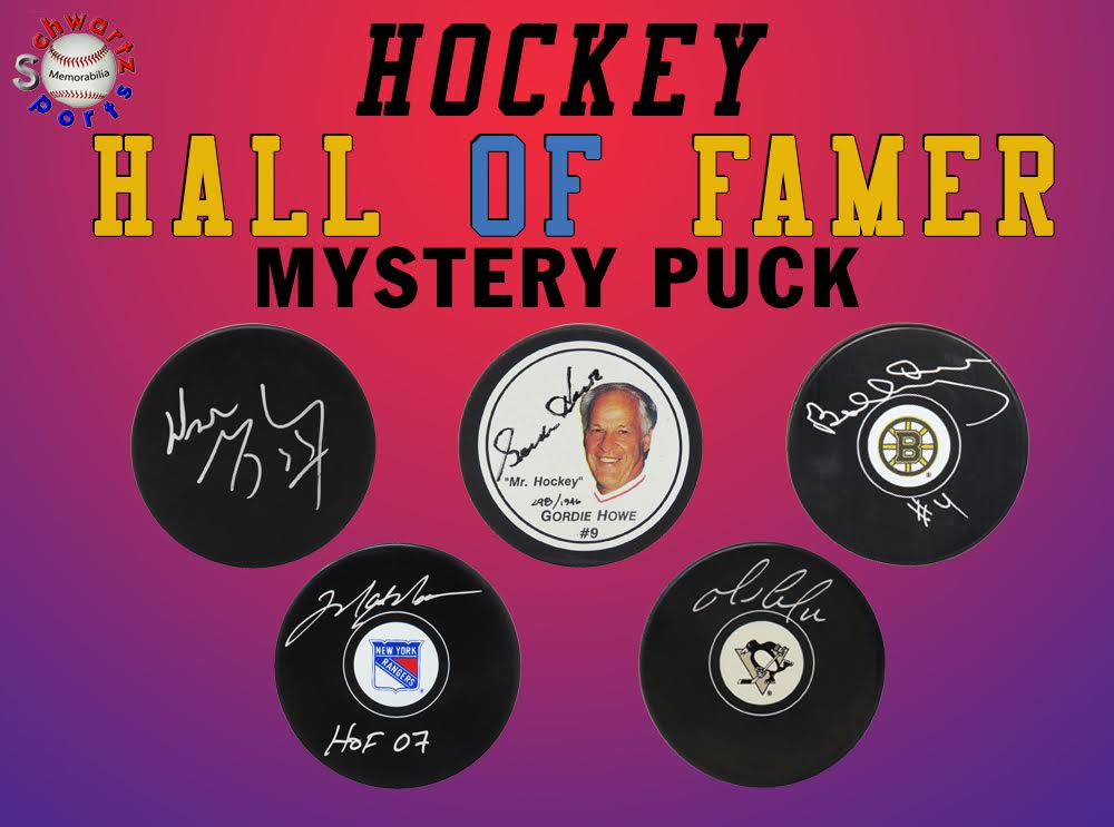 Schwartz Sports Hockey Hall of Famer Signed Hockey Puck Mystery Box - Series 19 (Limited to 150) (ALL PUCKS ARE HALL OF FAMERS!!) at PristineAuction.com