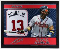 Ronald Acuna Jr. Signed 35x43 Custom Framed Jersey (JSA Hologram) (See Description) at PristineAuction.com