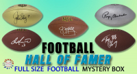Schwartz Sports Football Hall of Famer Signed Full-Size Football Mystery Box – Series 11 (Limited to 150) (ALL ARE HALL OF FAMERS!!) at PristineAuction.com