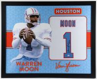 "Warren Moon Signed 35x43 Custom Framed Jersey Inscribed ""HOF 06"" (Beckett COA) at PristineAuction.com"