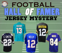 Schwartz Sports Football Hall of Famer Signed Football Jersey Mystery Box Series 18 (Limited to 100) (ALL PLAYERS ARE HALL OF FAMERS!!) at PristineAuction.com