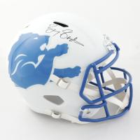 Barry Sanders Signed Lions Full-Size AMP Alternate Speed Helmet (Radtke COA) (See Description) at PristineAuction.com