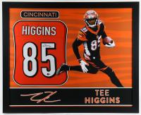 Tee Higgins Signed 35x43 Custom Framed Jersey (Beckett COA) at PristineAuction.com