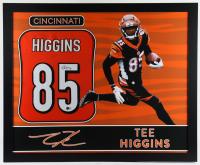 Tee Higgins Signed 35x43 Custom Framed Jersey (Beckett COA) (See Description) at PristineAuction.com