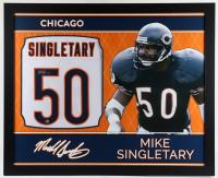 Mike Singletary Signed 35x43 Custom Framed Jersey (Beckett Hologram) at PristineAuction.com