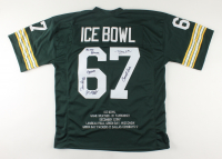 """""""Ice Bowl"""" Jersey Team-Signed by (6) with Paul Hornung, Dave Robinson, Jim Grabowski, Donny Anderson (JSA COA) at PristineAuction.com"""