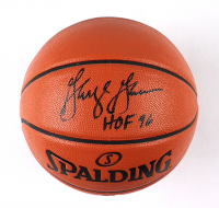 """George Gervin Signed NBA Game Ball Series Basketball Inscribed """"HOF 96"""" (Schwartz Sports COA) at PristineAuction.com"""