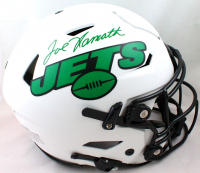 Joe Namath Signed Jets Full-Size Authentic On-Field Lunar Eclipse Alternate SpeedFlex Helmet (JSA Hologram) at PristineAuction.com