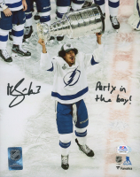 """Mathieu Joseph Signed Lightning 8x10 Photo Inscribed """"Party In The Bay!"""" (PSA COA) at PristineAuction.com"""