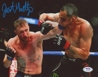 Justin Gaethje Signed UFC 8x10 Photo (PSA COA) at PristineAuction.com