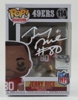 Jerry Rice Signed 49ers #114 Funko Pop! Vinyl Figure (Schwartz Sports COA) at PristineAuction.com