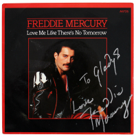 """Freddie Mercury Signed """"Love Me Like There's No Tomorrow"""" Vinyl Record Album Inscribed """"Love"""" (JSA LOA) at PristineAuction.com"""