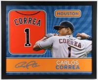 Carlos Correa Signed 35x43 Custom Framed Jersey (JSA Hologram) at PristineAuction.com