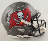 Tom Brady Signed Buccaneers Super Bowl LV Logo Full-Size Authentic On-Field Speed Helmet (Fanatics Hologram) (See Description) at PristineAuction.com